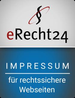 E-Recht 24 Rechtssichere Impressum Sigel